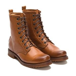 Frye Veronica Combat Boots Whiskey Tan sz 9